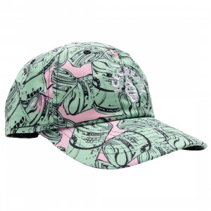 Ice Cream Bands Dad Cap (green / rose smoke)