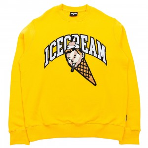 Ice Cream Men Cherry On Top Crew Sweater (yellow / solar)