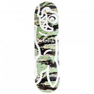 Ice Cream Stash Skateboard Deck (camo / black)