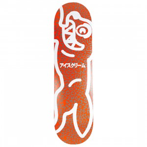Ice Cream Red Skateboard Deck (red)