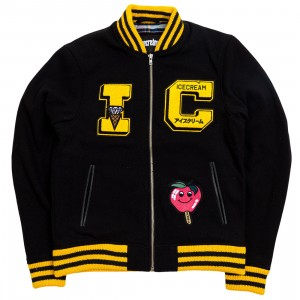 Ice Cream Men Varsity Jacket (black)