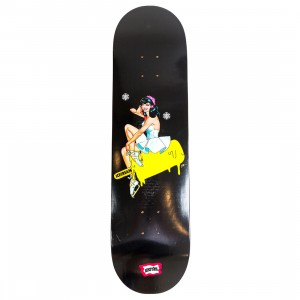 Ice Cream Pin Up Skateboard Deck (black)