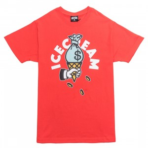 Ice Cream Men Cash Rules Tee (red)