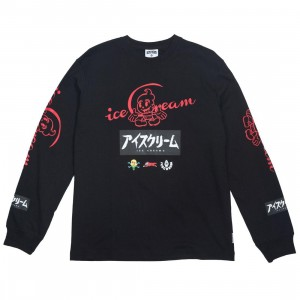 Ice Cream Men Dip Long Sleeve Tee (black)
