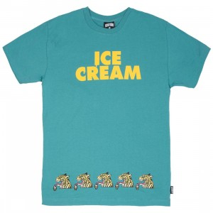 Ice Cream Men Cream Tee (teal)
