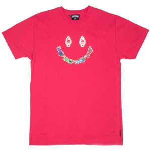 Ice Cream Men Happy Tee (red / raspberry wine)
