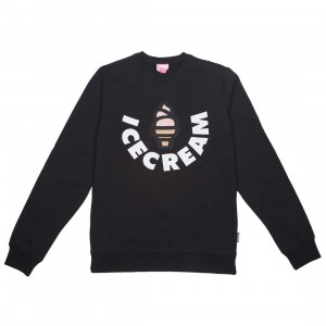 Ice Cream Men Vanilla Crew Sweater (black)