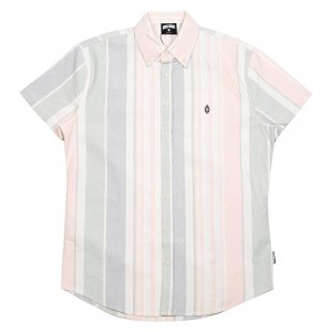 Ice Cream Men Neopolitan Short Sleeve Woven Shirt (multi)