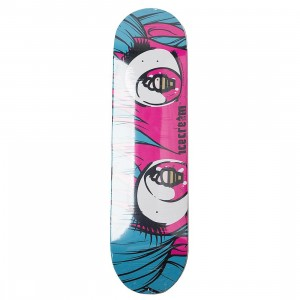 Ice Cream Custard Skate Deck (blue / pink)