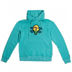Ice Cream Men Chenille Hoody (blue / aqua)