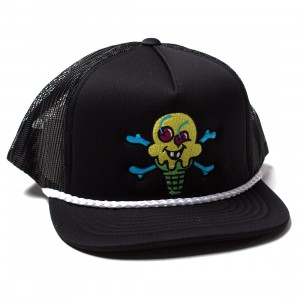 Ice Cream Cross Cones Trucker Cap (black)