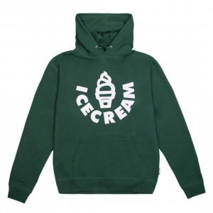 Ice Cream Men Cone Hoody (green)