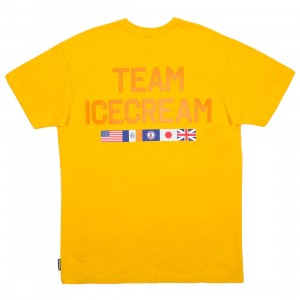 Ice Cream Men Cherry Tee (yellow)