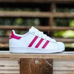 Adidas Big Kids Superstar Foundation (white / pink buzz / running white)