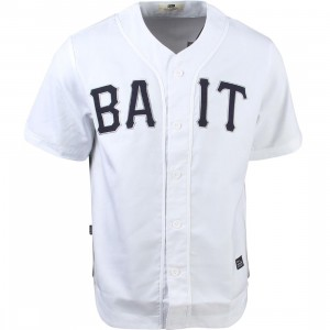 BAIT Men Sluggers Baseball Jersey (white / navy)