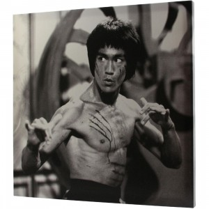 BAIT x Bruce Lee Battle Damaged 24 Inch Canvas (black / white)