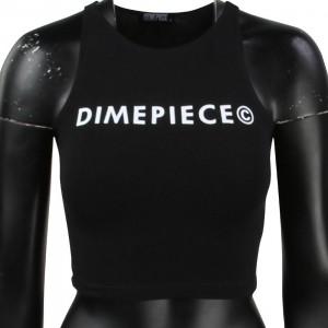 Dimepiece Women Dimepiece Logo Razorback Tee (black)