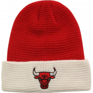 Adidas NBA Chicago Bulls Team Cuffed Knit Beanie (red / white)