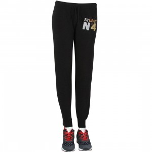 Stussy Women Metallic No 4 Sweat Pants (black)