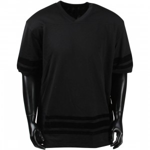 10 Deep Zip Drive Mesh Football Jersey (black)