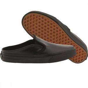 Vans Women Classic Slip-On Mule - Leather (black / black)