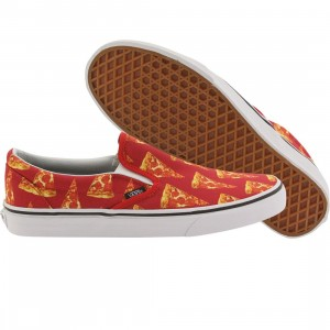 Vans Men Classic Slip-On - Late Night Pizza (red / mars / pizza)
