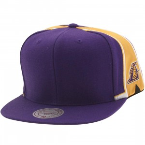 Mitchell And Ness Los Angeles Lakers Blank Front Snapback Cap (purple)