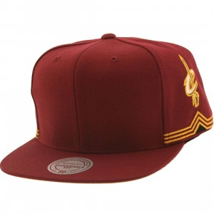 Mitchell And Ness Cleveland Cavaliers Blank Front Snapback Cap (purple)