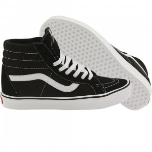 Vans Men Sk8-Hi Lite + Suede Canvas (black / white)