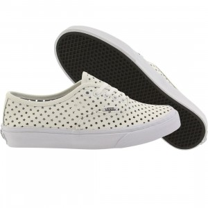 Vans Women Authentic Slim - Perf Stars (white / true white)
