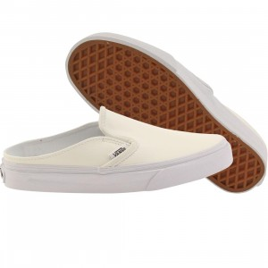 Vans Women Classic Slip-On Mule - Leather (white / true white)