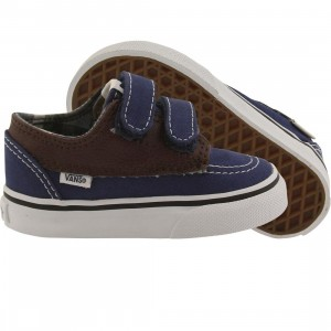 Vans Toddlers Brigata V - Leather (blue / estate / potting soil)