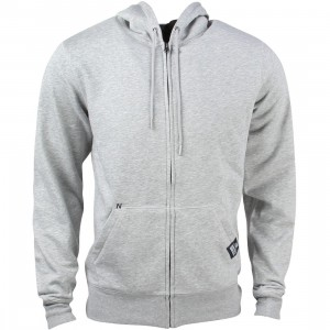 New Balance Men Full Zip Fleece Hoodie (gray / athletic grey)