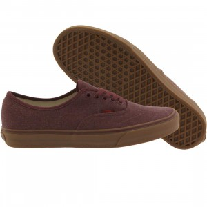 Vans Men Authentic - Washed Canvas (burgundy / port royale / gum)