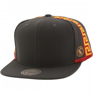 Mitchell And Ness Golden State Warriors Blank Front Snapback Cap (gray)