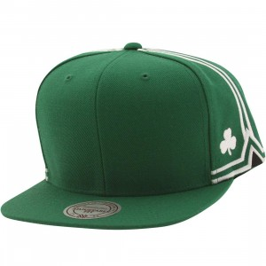 Mitchell And Ness Boston Celtics Blank Front Snapback Cap (green)