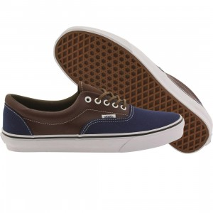 Vans Men Era - Leather Plaid (blue / estate / potting soil)