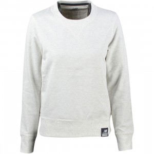 New Balance Women Crewneck Sweater (gray / sea salt heather)