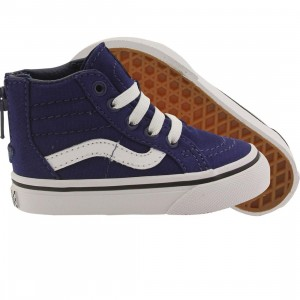 Vans Toddlers SK8-Hi Zip - Pop Check (blue / true white)