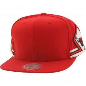 Mitchell And Ness Chicago Bulls Blank Front Snapback Cap (red)