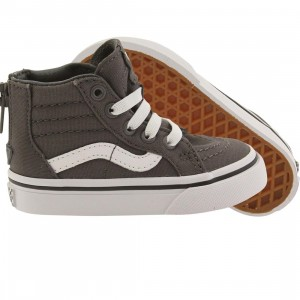 Vans Toddlers SK8-Hi Zip - Pop Check (gray / pewter / white)