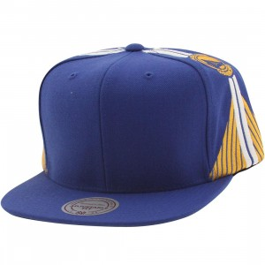 Mitchell And Ness Golden State Warriors Blank Front Snapback Cap (blue)
