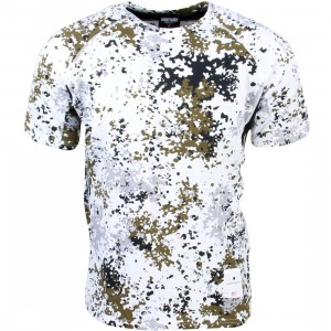 Undefeated Men TX5 Mesh Running Shirt (white / camo)