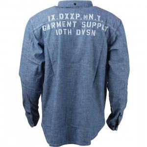 10 Deep Men Garment Supply Chambray Shirt (blue / stone wash)