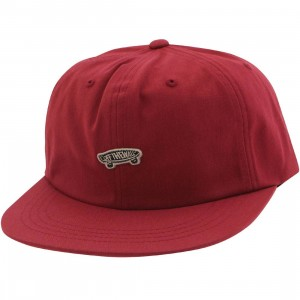 Vans Unstructured Off The Wall Cap (red / chili pepper)