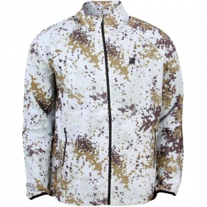 Undefeated Men Tech Running Shell Jacket (white / camo)