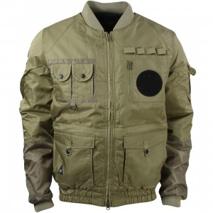 10 Deep Men Technician Aviator Jacket (green / army)