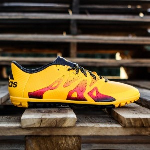 Adidas Men X15.3 Turf (yellow / solar gold / core black / shock pink)