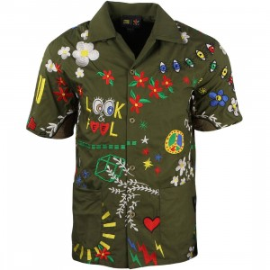 Adidas Consortium x Pharrell Williams Men Embroidery Shirt (green / multi)