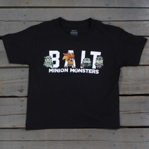 BAIT x Minion Monsters Women Group Tee (black)